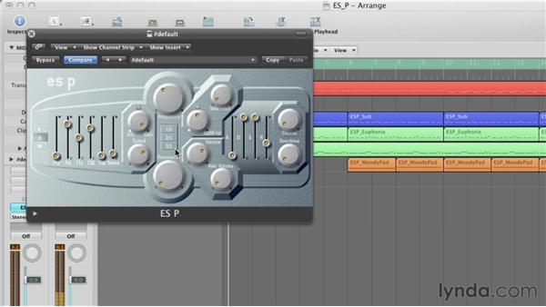 Using the Vibrato/Wah control: Virtual Instruments in Logic Pro