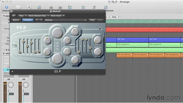 Tweaking the Overdrive and Chorus settings: Virtual Instruments in Logic Pro