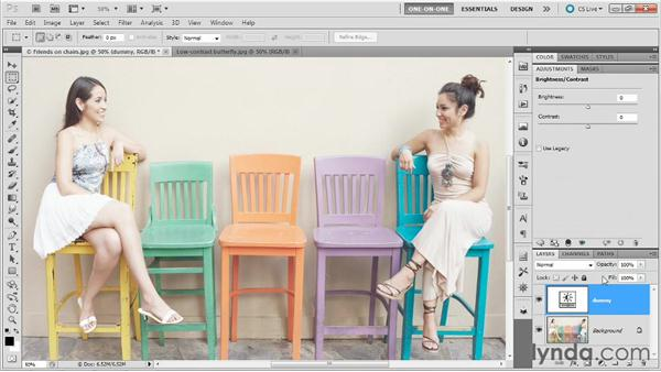 Blending adjustment layers: Photoshop Masking and Compositing: Advanced Blending