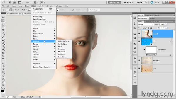 Creating filter effects with Darken: Photoshop Masking and Compositing: Advanced Blending