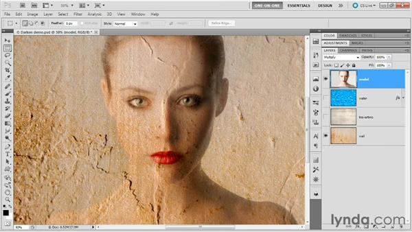The Multiply and Burn modes: Photoshop Masking and Compositing: Advanced Blending