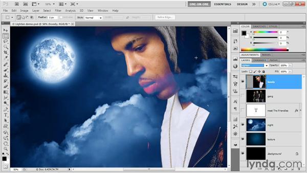 Lighten vs. Lighter Color: Photoshop Masking and Compositing: Advanced Blending