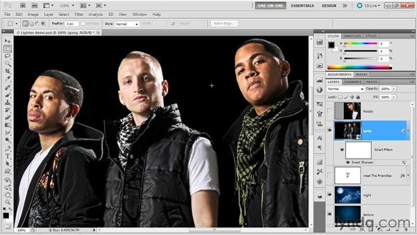Creating filter effects with Lighten: Photoshop Masking and Compositing: Advanced Blending