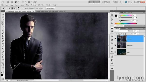 Masking with a lighten mode: Photoshop Masking and Compositing: Advanced Blending