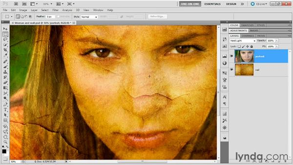 Two variations on a single mode: Photoshop Masking and Compositing: Advanced Blending