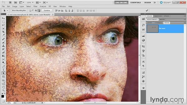 Turning flesh into stone: Photoshop Masking and Compositing: Advanced Blending