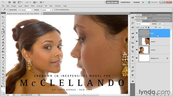 Creating type that inverts any background: Photoshop Masking and Compositing: Advanced Blending