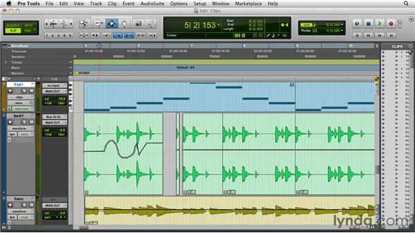 Clips and clip-based gain: Pro Tools 10 New Features