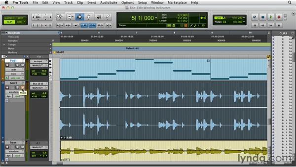Edit window indicators: Pro Tools 10 New Features