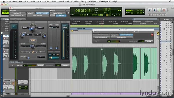 Creating a reverse delay or reverb effect: Pro Tools 10 New Features