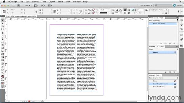 Setting up a style-centric workspace: InDesign Styles in Depth