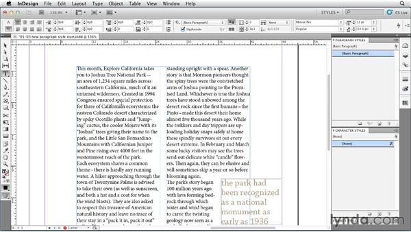 Creating and applying paragraph styles: InDesign Styles in Depth