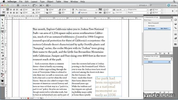 Creating relationships between paragraph styles: InDesign Styles in Depth