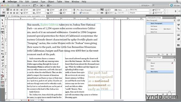 Deleting and replacing styles: InDesign Styles in Depth
