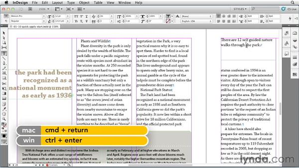 Using Quick Apply to apply styles: InDesign Styles in Depth