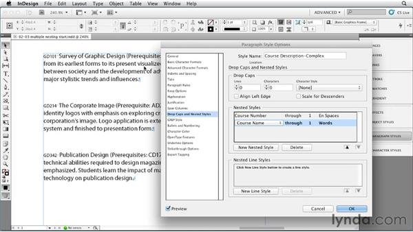 Adding multiple nested styles: InDesign Styles in Depth