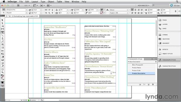 Creating a paragraph formatting loop: InDesign Styles in Depth