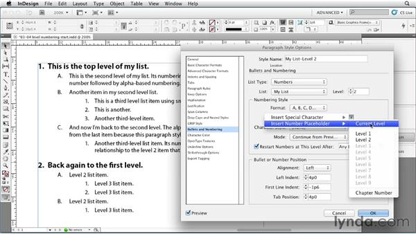 Customizing multilevel list numbering: InDesign Styles in Depth