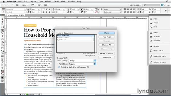 Exporting InDesign styles for Word: InDesign Styles in Depth