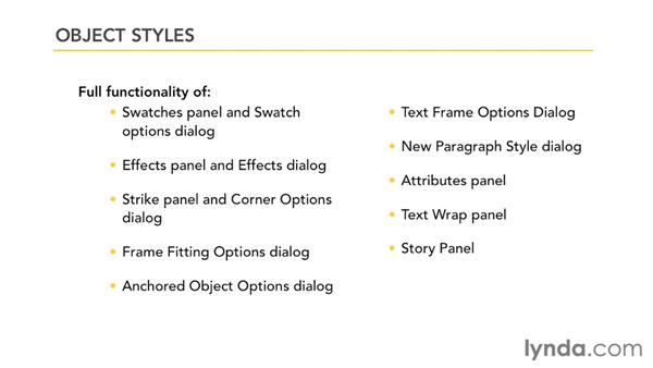 What object styles can and cannot do: InDesign Styles in Depth