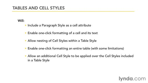 Understanding the limits of table and cell styles: InDesign Styles in Depth