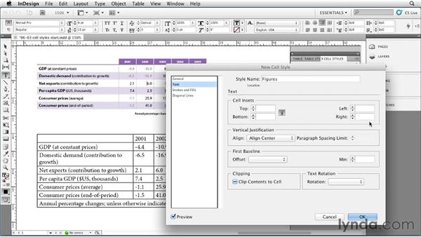 Defining and applying cell styles: InDesign Styles in Depth