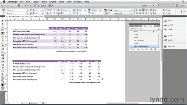 Basing one cell style upon another: InDesign Styles in Depth