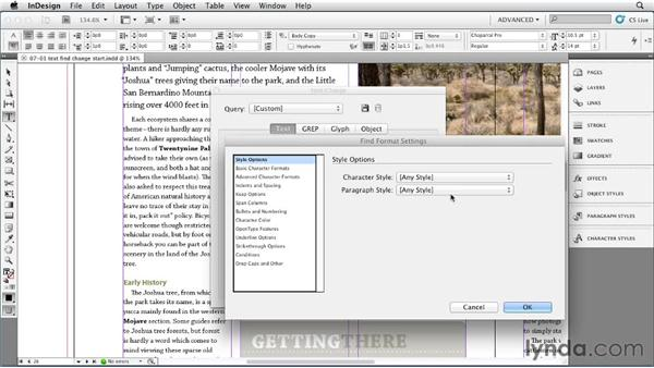 Using text styles as Find/Change criteria: InDesign Styles in Depth