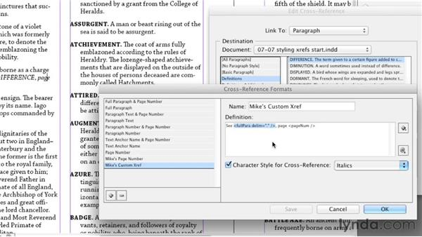 Styling a cross-reference: InDesign Styles in Depth