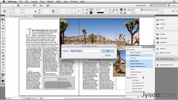 Organizing styles with style groups: InDesign Styles in Depth