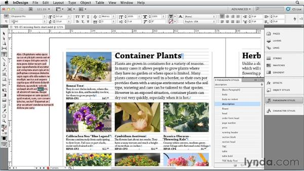 Resolving missing font problems in styles: InDesign Styles in Depth