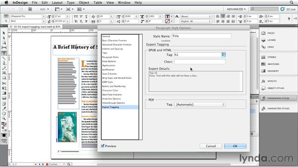 Exporting tagging styles for EPUB, HTML, and PDF: InDesign Styles in Depth