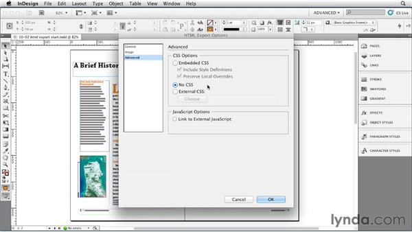 Exporting InDesign styles for CSS and HTML: InDesign Styles in Depth
