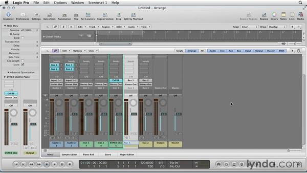 Setting up your session: Remixing a Song in Logic Pro