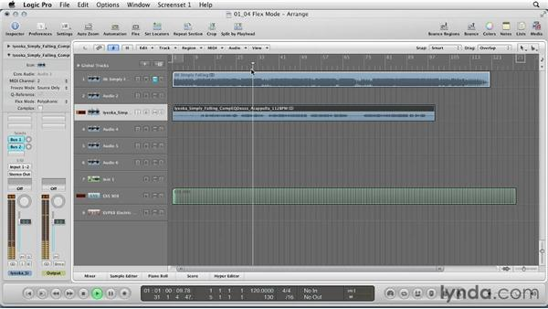 Choosing destination BPM and time-stretching in Flex mode: Remixing a Song in Logic Pro