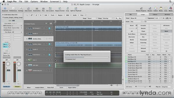 Using Apple Loops: Remixing a Song in Logic Pro