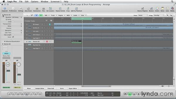 Drum loops and drum programming: Remixing a Song in Logic Pro