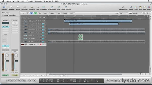 Chord changes and harmonic structure: Remixing a Song in Logic Pro