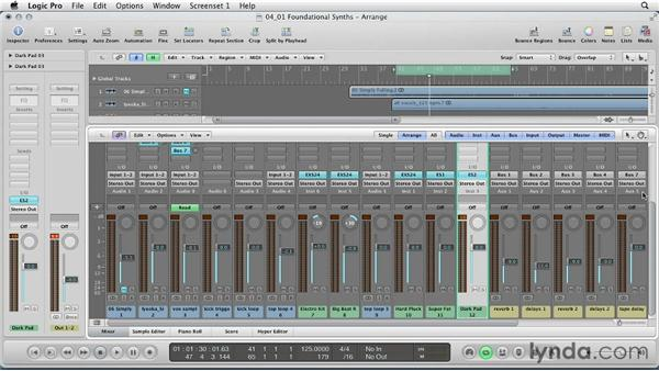 Choosing foundational synth parts and sounds: Remixing a Song in Logic Pro