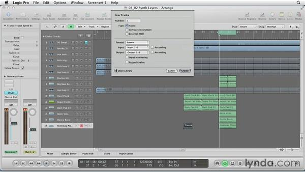 Layering synth parts: Remixing a Song in Logic Pro