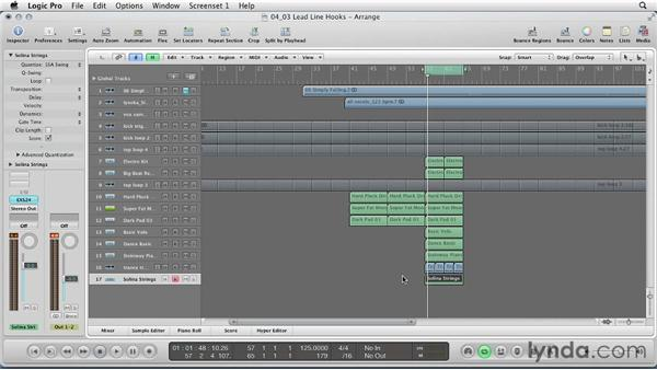 Lead line hooks: Remixing a Song in Logic Pro