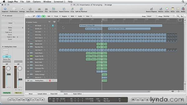 The importance of arranging: Remixing a Song in Logic Pro