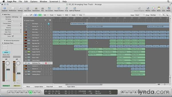 Arranging your track: Remixing a Song in Logic Pro
