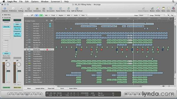 Filling holes in the arrangement: Remixing a Song in Logic Pro