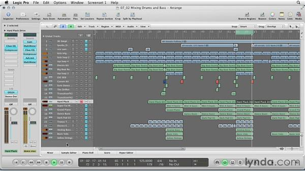 Mixing drums and bass: Remixing a Song in Logic Pro