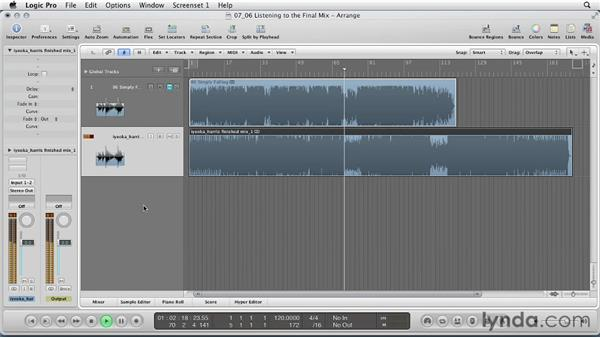 Listening to the final mix: Remixing a Song in Logic Pro