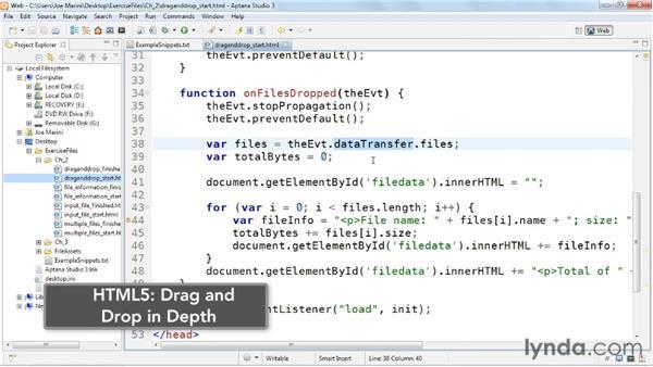 Using drag and drop: HTML5: File API in Depth