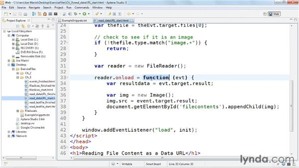 Reading file contents as a data URL: HTML5: File API in Depth