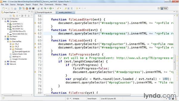 Using File API event handlers: HTML5: File API in Depth