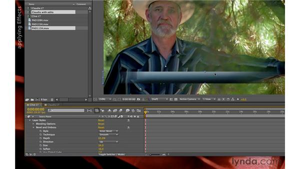 Using layer styles plus effects: Premiere Pro and After Effects: Creating Title Graphics